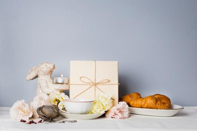 Hörnchen und dekorationen kopieren raum Kostenlose Fotos