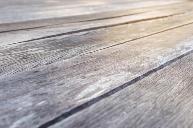Holzboden besteht aus alten holzbrettern mit schönen mustern Premium Fotos