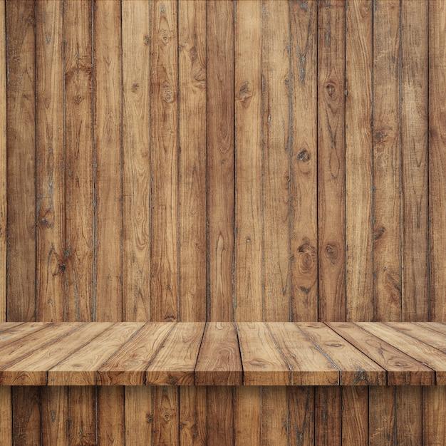Holzdielen mit Holzwand Kostenlose Fotos