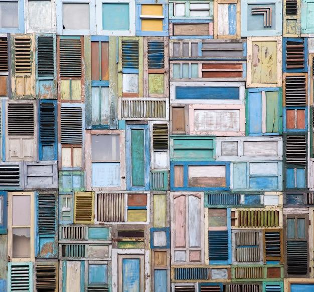 Holzfenster collage Premium Fotos