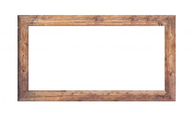 Holzrahmen bild lokalisiert auf weiß. Premium Fotos