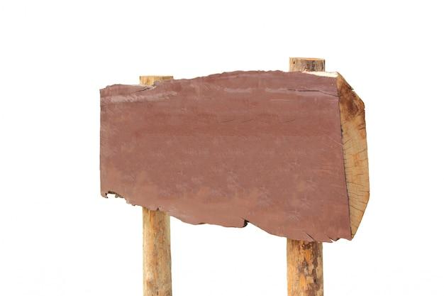 Holzschild, isoliert auf weiss. Premium Fotos