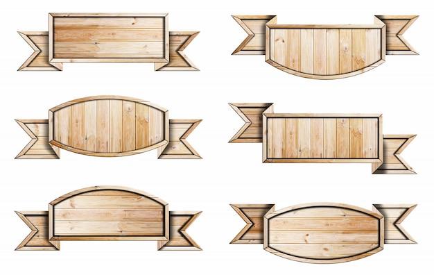 Holzschildsammlung Premium Fotos