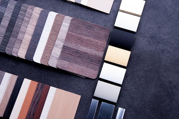 Holzstrukturboden muster von laminat- und vinylbodenfliesen Premium Fotos