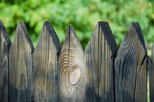 Holzzaun, der große plan. Premium Fotos