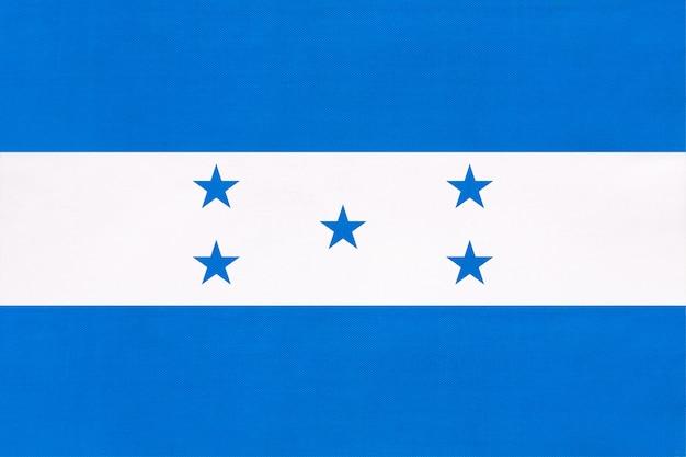 Honduras nationale gewebeflagge, symbol des internationalen weltmittelamerika-landes. Premium Fotos