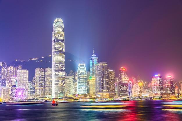 Hong kong - 14. oktober 2015: skyline von hong kong am 14. oktober in Kostenlose Fotos
