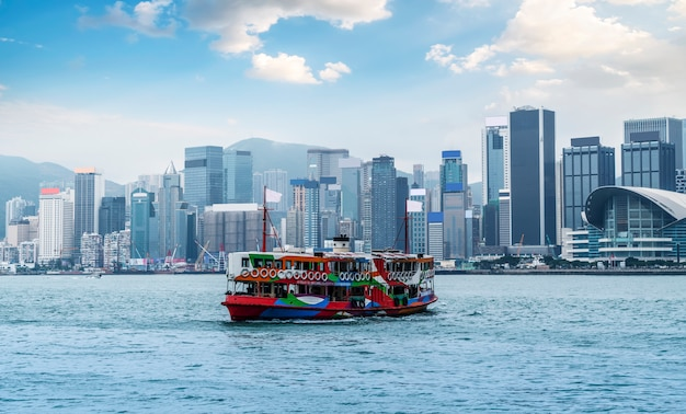 Hong kong city skyline und architekturlandschaft Premium Fotos