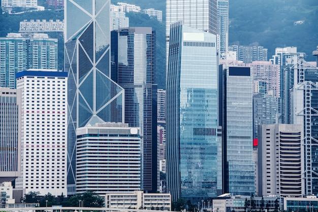 Hong kong-handelsgebäude-wolkenkratzer Premium Fotos