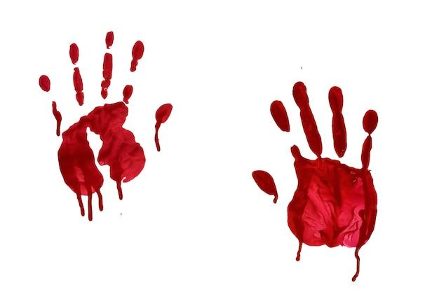 Horror blutiger handabdruck Premium Fotos