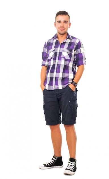 Hübscher kerl in einem hemd Kostenlose Fotos