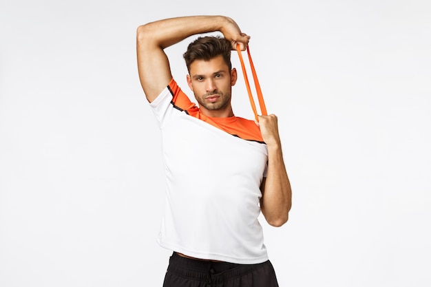 Hübscher muskulöser sexy junger sportler Premium Fotos