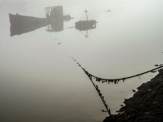 Hulks im nebel Premium Fotos