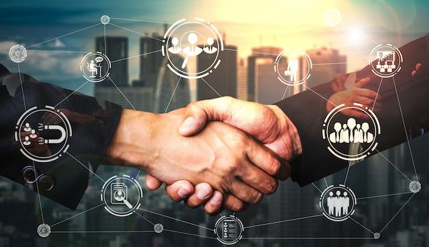 Human resources und people networking Premium Fotos