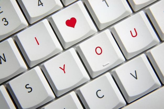 Ich liebe dich in der tastatur Premium Fotos