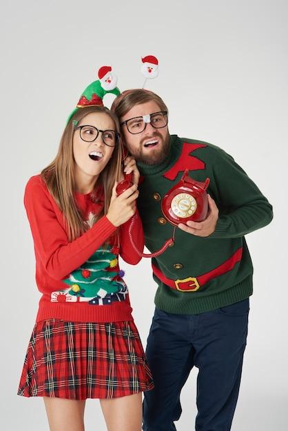Ich wünsche ihnen frohe weihnachten per telefon Kostenlose Fotos
