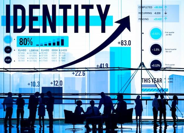 Identitäts-branding-handels-copyright-marketing-konzept Kostenlose Fotos