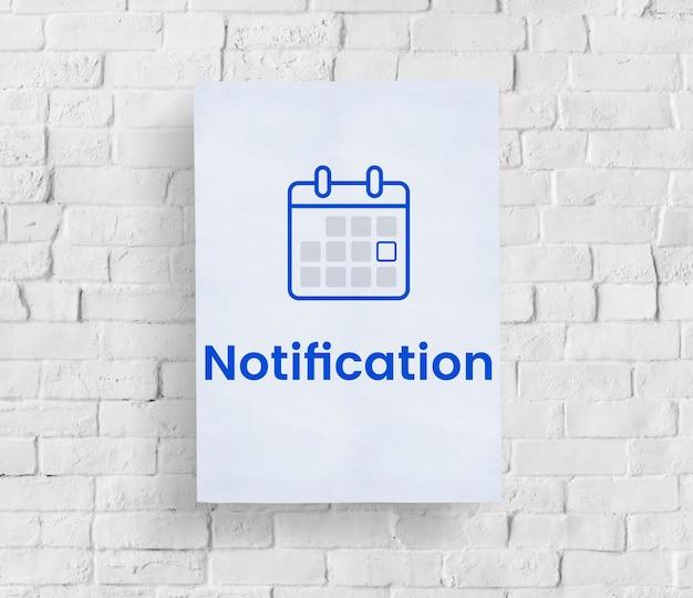 Illustration des terminkalenders des persönlichen organisators auf backsteinmauer Kostenlose Fotos