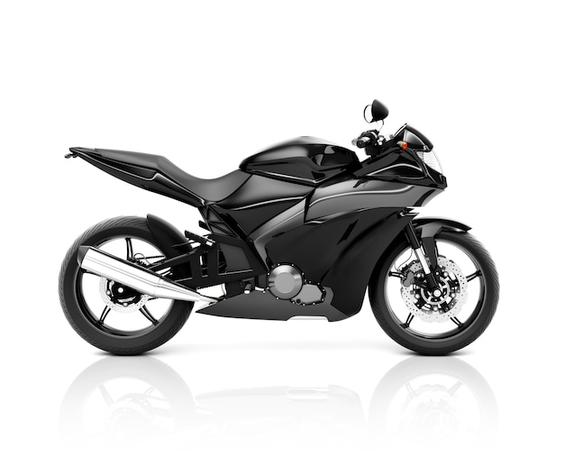 Illustration eines schwarzen großen fahrrades Premium Fotos