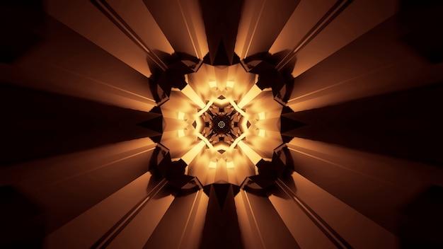 Illustration von abstrakt leuchtenden neonlichteffekten - ideal für einen futuristischen hintergrund Kostenlose Fotos
