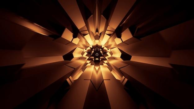 Illustration von abstrakt leuchtenden neonlichteffekten - ideal für einen futuristischen raum Kostenlose Fotos