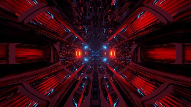 Illustration von geometrischen formen mit bunten laserlichtern Kostenlose Fotos