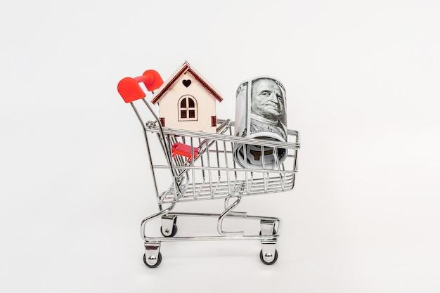 Immobilieninvestitions- und haushypothekenfinanzkonzept. kauf, miete und verkauf von wohnungen Premium Fotos