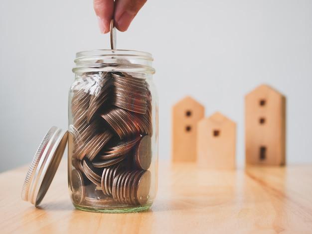 Immobilieninvestitionsimmobilien und haushypothekenfinanzkonzept Premium Fotos