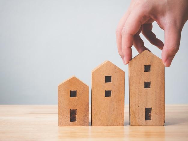 Immobilieninvestitionsimmobilien und haushypothekenfinanzkonzept. Premium Fotos