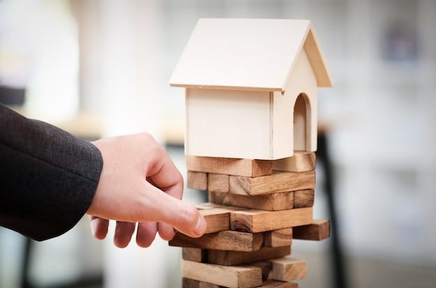 Immobilienplanung und vermeidung von finanzinvestitionsrisiken Premium Fotos