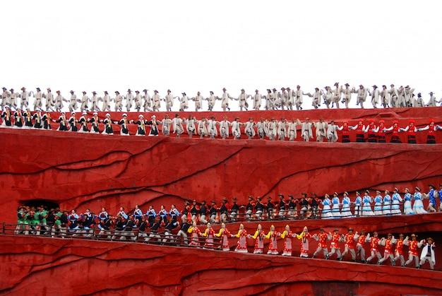 Impression lijiang, eine kulturschau in der antiken stadt lijiang Premium Fotos