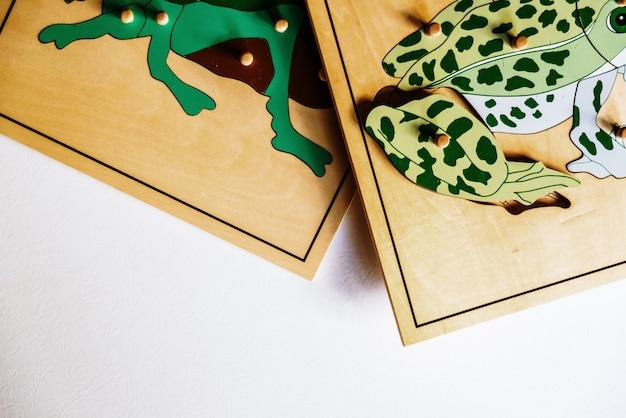 In montessori alternativer pädagogischer ausbildung spezielle materialien Premium Fotos