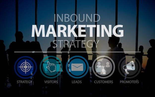Inbound marketingn marketingstrategie-handels-on-line-konzept Kostenlose Fotos
