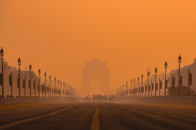 India gate morgen. Kostenlose Fotos