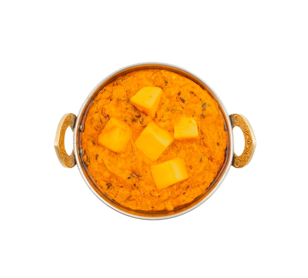 Indische populäre vegetarische küche-käse-butter masala Premium Fotos