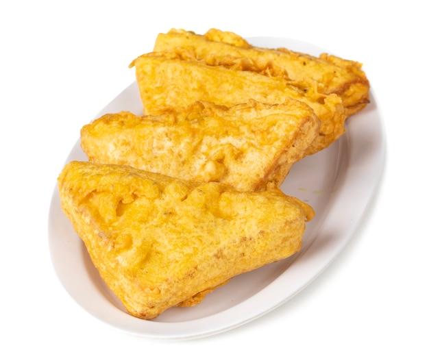 Indisches populäres tee-zeit-snack-brot pakora Premium Fotos