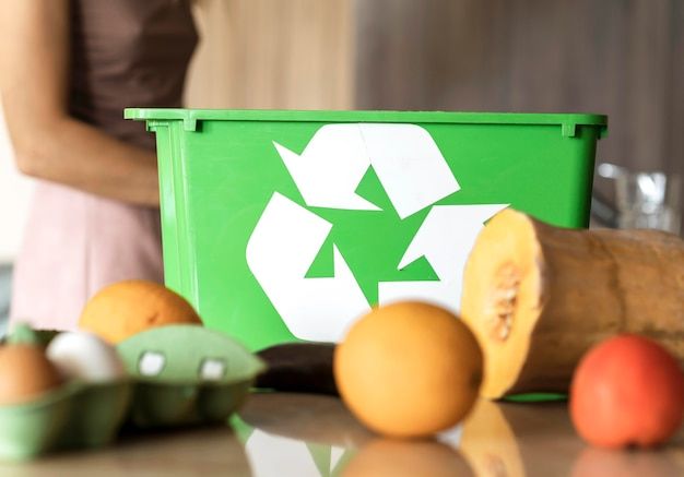 Individuelles recycling von bio-gemüse Kostenlose Fotos