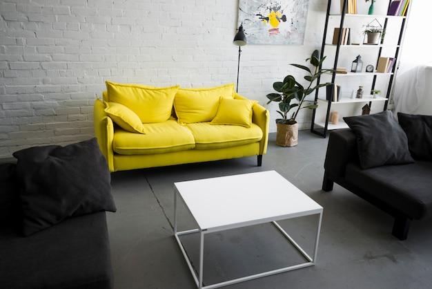 Innenraum des stilvollen wohnzimmers Kostenlose Fotos