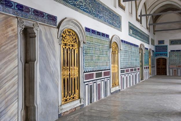 Innenraum des topkapi palastes in istanbul, die türkei Premium Fotos