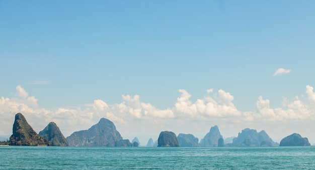 Inselansicht in phangnga-provinz Premium Fotos