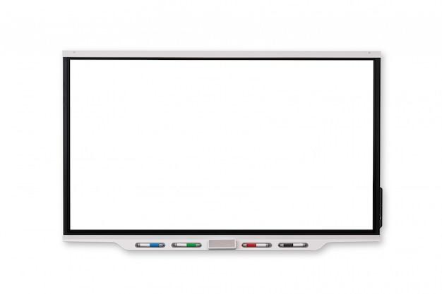 Interaktives whiteboard - isolierter und weißer hintergrund Premium Fotos