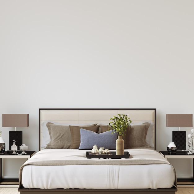 Interior Schlafzimmer Wand Galerie Mockup | Download der Premium Fotos