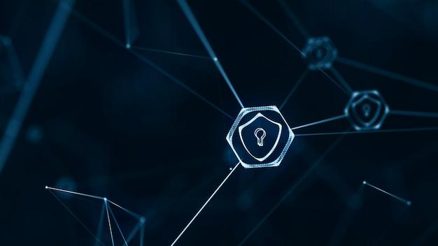 Internet-technologie-netzwerk und cybersicherheitskonzept. Premium Fotos