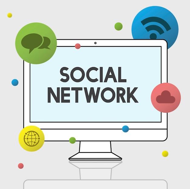 Internet und social media grafik Kostenlose Fotos