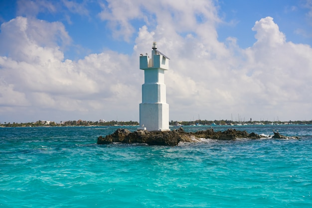 Isla mujeres leuchtturm el farito schnorchelspitze Premium Fotos