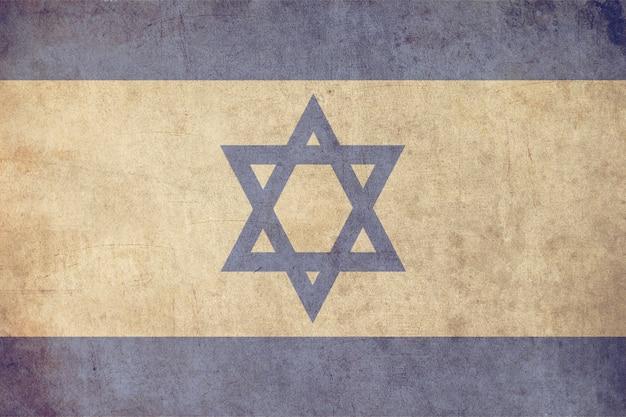 Israel-flagge, strukturierte art der alten postkarte Premium Fotos