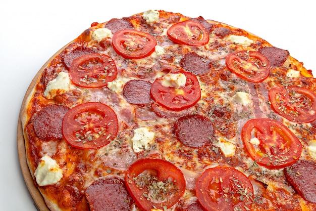 Italienische pizza weiß Premium Fotos