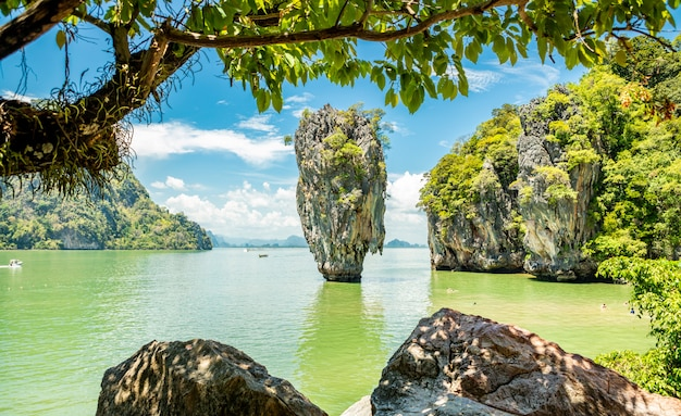 James bond island in phangnga Premium Fotos