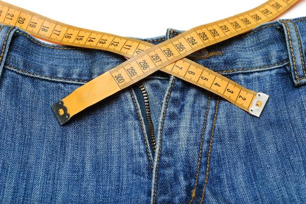 Jeans und maßband Premium Fotos