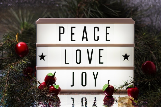 Joy love peace christmas schriftzug Kostenlose Fotos